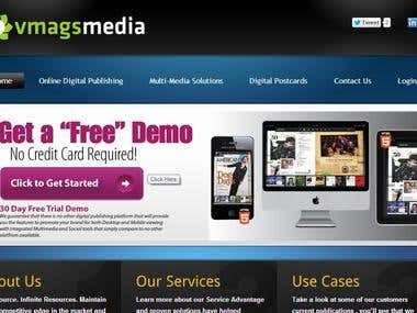 Vmagsmedia, wordpress website.