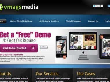 Vmagsmedia, wordpress website.