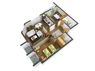 Visualization of 3d floor plan
