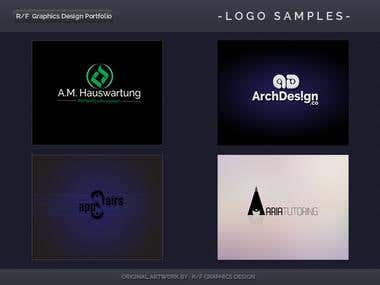 R/F Graphics Design Logo Portfolio 1