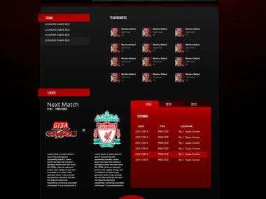 Chaos Soccer Website design