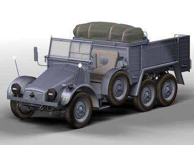3D models: Military trucks