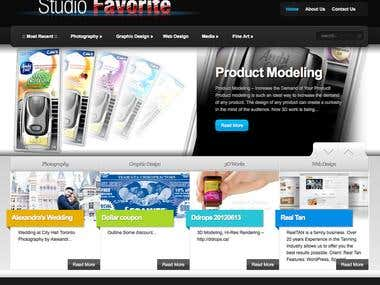 Studio Favorite - portfolio website