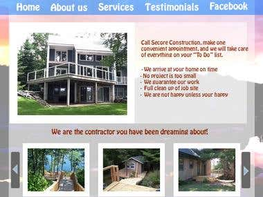 Secore Construction Website design