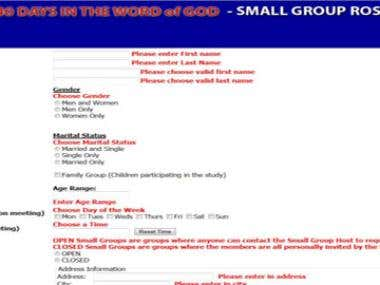 Life Community Church Small Group Web Application