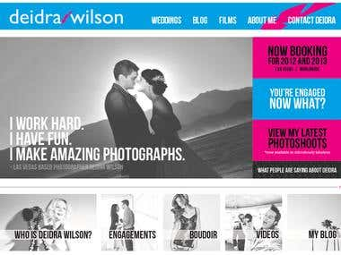 Photography & Portfolio Website with WordPress Blogs