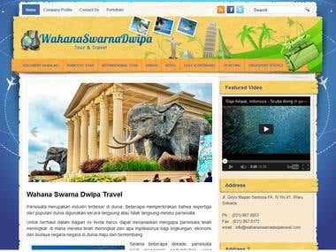 Wahana Swarna Dwipa Travel Website Developer