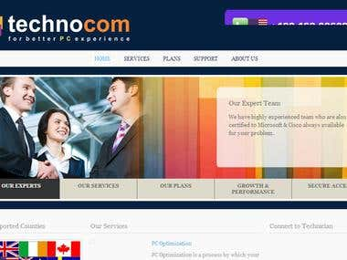 Technocom a professional payment process integrated site