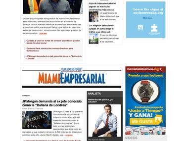 WordPress news portal