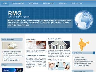 Financial Consultant Website