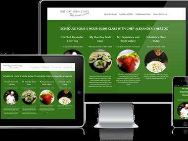 One Day Sushi Website
