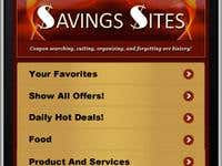Savings Site iPhone app