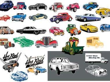 Cars in Vector