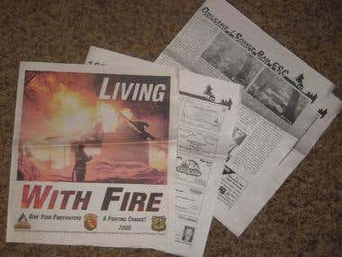 Living With Fire - 4 spreads(16 pages) newspaper attachment