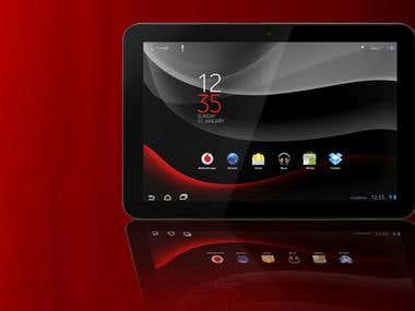 Android tablet banner design