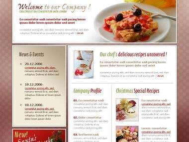 Delicious Cake - Online Web Promotion