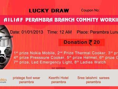 Lucky draw ticket
