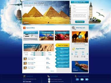 web design for a tours company