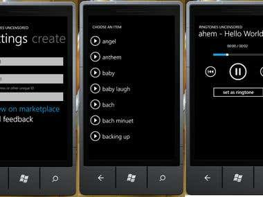 Uncensored Ringtones (wp7 App)