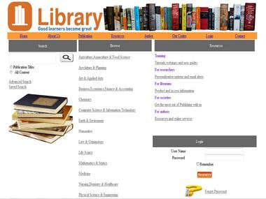 Online library Management site