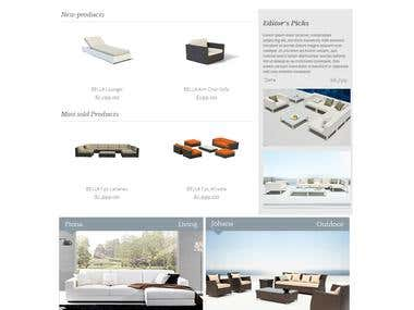 Furniture eCommerce Built & Product Post Production