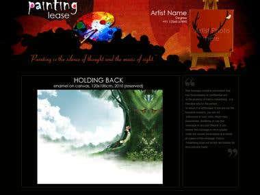 Website for an artist