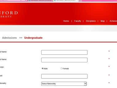 A website registration form