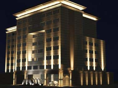 Facade lighting - Asiana Hotel
