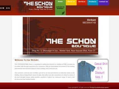 The schon boutique website