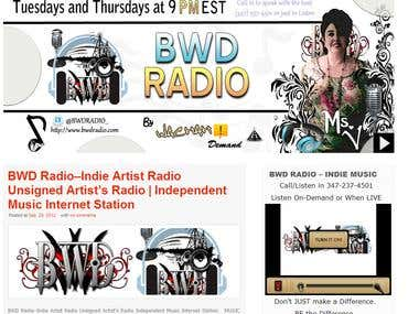 Website Development - Radio Station -  Promotion Website