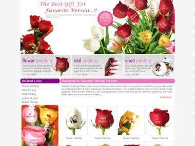 Website for flower painting artist