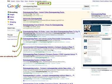 SEO Services to be on top for a keyphrase at google.co.uk