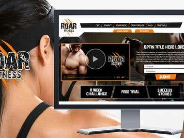 ROAR Fitness website