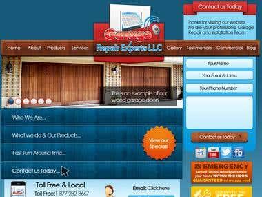 Mockup for Garage Repair Expert Website