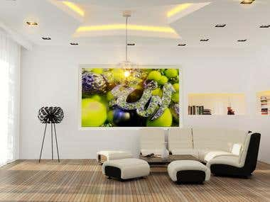 interior render designed by me and model and rendred by me