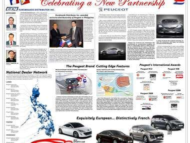 News Paper Center Spread