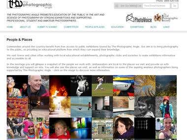 Custom CMS Website: The Photographic Angle