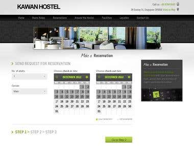 Kawan Hostel - Custom Hostel Booking System