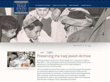 Iraqi Jewish Archives website
