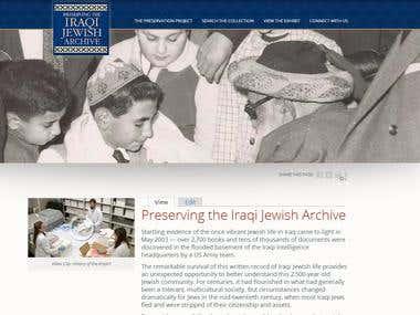Iraqi Jewish Archives website