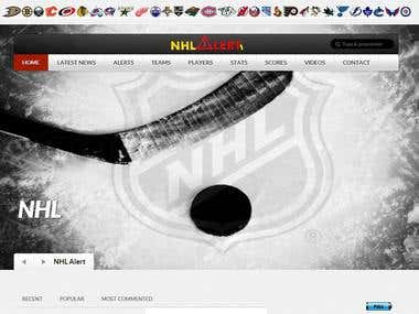 NHL Alert- Automatic Website