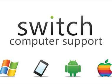 Business Card Design - Switch Computer Support