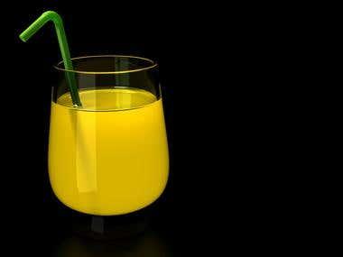Realistic Juice rendering by Houdini