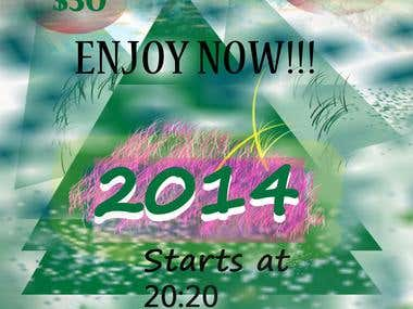 Happy new year flyer design