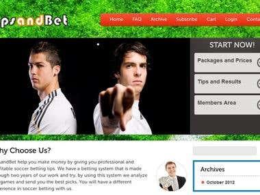 selling soccer tips website