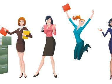 Vector Bussines Woman 3