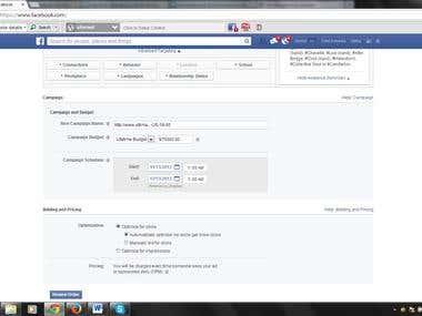 FaceBook Account Srceen Shoot