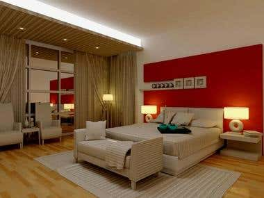 interior lighting by me & surfaces sretup by me