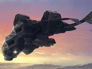 War VTOL aircraft concept