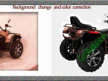 Background remove and Color correction